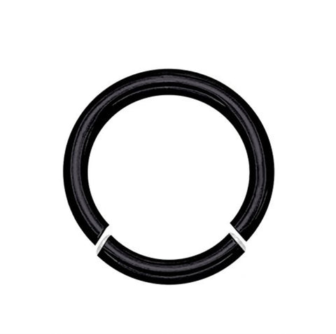 BodyJ4You 14 Gauge Black Stainless Steel Segment Ring - BodyJ4you