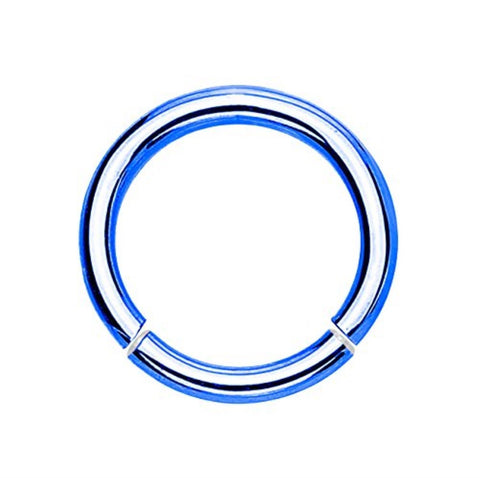 BodyJ4You 14G Electric Blue Segment Ring - BodyJ4you
