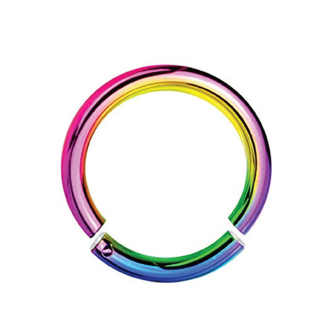 BodyJ4You 14G Rainbow Anodized Segment Ring - BodyJ4you