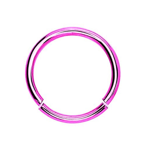 BodyJ4You 16 Gauge Pink Stainless Steel Segment Ring - BodyJ4you