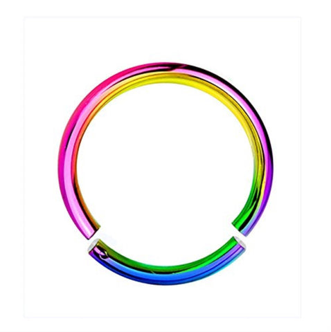 BodyJ4You 16G Rainbow Anodized Segment Ring - BodyJ4you