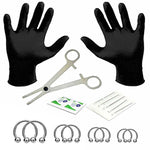 BodyJ4You 18PC PRO Piercing Kit Steel 14G Horseshoe Ring Barbell Septum Nipple Lip Ear Body Jewelry - BodyJ4you