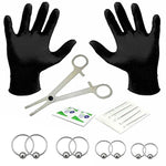 BodyJ4You 18PC PRO Piercing Kit Steel 18G 20G Ball Closure Ring Septum Nipple Lip Ear Body Jewelry - BodyJ4you