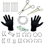 BodyJ4You 36PC PRO Piercing Kit Stainless Steel 14G 16G Nose Ring Septum Tongue Belly Jewelry - BodyJ4you