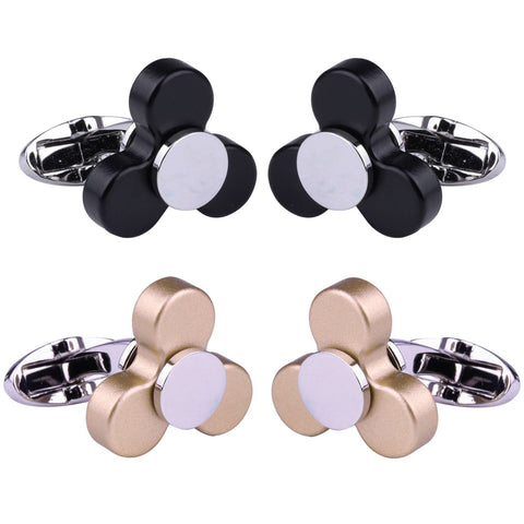 BodyJ4You 4PC Cufflinks Button Men's Shirt Classic Modern Design Business Jewelry Gift Set - BodyJ4you
