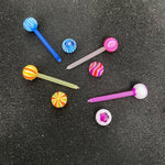 BodyJ4You 50PC Tongue Barbells Nipple Rings 14G Acrylic Ball Flexible Bar 25 Pairs Body Piercing Jewelry - BodyJ4you