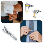BodyJ4You 9PC Cufflinks Tie Clip Set Button Shirt Men Chef Cook Bartender Jewelry Gift Box - BodyJ4you