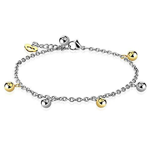 BodyJ4You Anklet Bracelet Dolphin Dangle Stainless Steel Body Fashion Jewelry - BodyJ4you