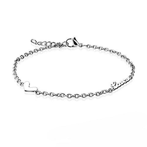BodyJ4You Anklet Bracelet Dolphin Dangle Stainless Steel