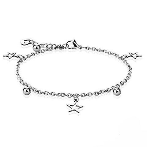 BodyJ4You Anklet Bracelet Star Cuff Ball Stainless Steel Body Fashion Jewelry - BodyJ4you