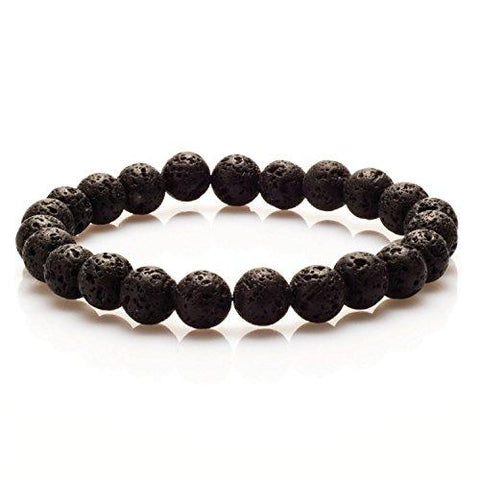 BodyJ4You Bracelet Black Lava Energy Stone Bead Stretch Fashion Accessories Jewelry - BodyJ4you