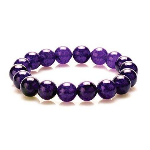 BodyJ4You Bracelet Gemstone Healing Natural Stone Amethyst Beads - BodyJ4you