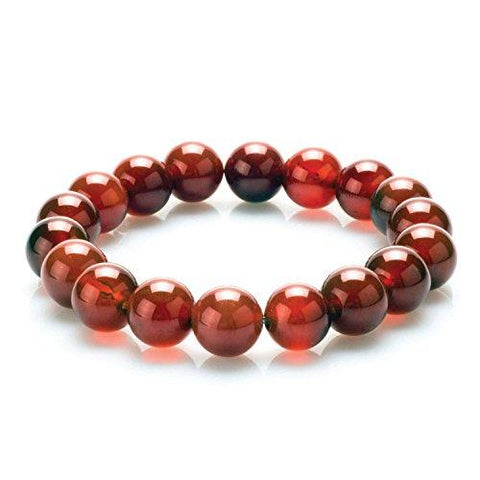 BodyJ4You Bracelet Gemstone Healing Natural Stone Red Agate Beads Fashion 3PCS - BodyJ4you