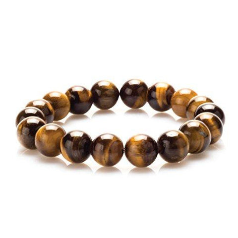 BodyJ4You Bracelet Gemstone Healing Natural Stone Tigers Eye Beads - BodyJ4you