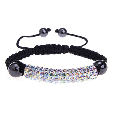 BodyJ4You Bracelet Long Tube Aurora Pave Crystals Adjustable Wrist Iced Out Jewelry - BodyJ4you