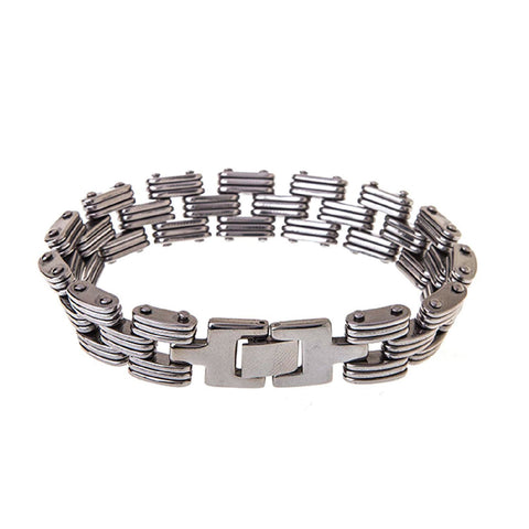 "BodyJ4You Bracelet Rectangle Link Men's Wide Bracelet 8.5"" - BodyJ4you"