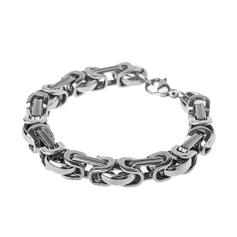 "BodyJ4You Bracelet Stainless Steel Bracelet Chain Link Men's Byzantine 7.5"" - BodyJ4you"