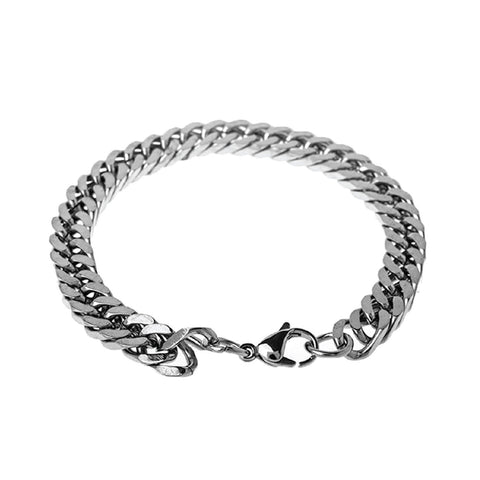 "BodyJ4You Bracelet Stainless Steel Chain Link Men's Curb Bracelet 8.2"" - BodyJ4you"
