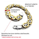 BodyJ4You Bracelet Stainless Steel Men's Two-tone 8.6 Inches - BodyJ4you