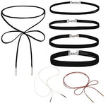 BodyJ4You Choker Necklace Collar Black Velvet Ribbon Gothic Girls Set 7 Pieces - BodyJ4you