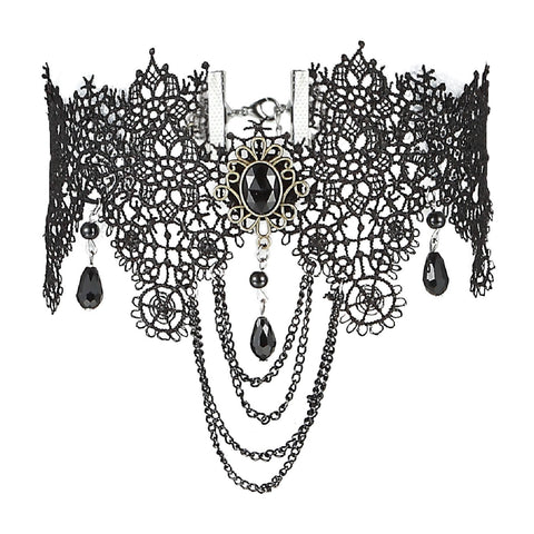 BodyJ4You Choker Necklace Empress Gothic Pendant Collar Lace Retro Royal Style - BodyJ4you