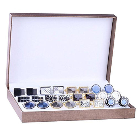 BodyJ4You Cufflink 12 Pairs Two Tone Classy Stylish Men's Cuff Links Elegant Gift Box - BodyJ4you