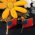 BodyJ4You Cufflinks American Star-Spangled Banner Flag Patriot Men Pair Fashion Jewelry Gift Box - BodyJ4you