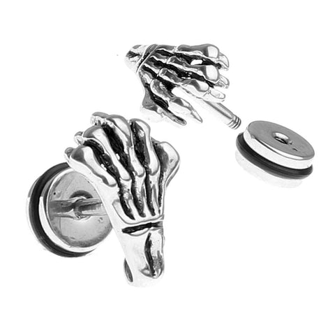 BodyJ4You Fake Earrings Steel Hand Cheater Illusion Jewelry - BodyJ4you
