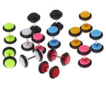 BodyJ4You Fake Gauges Kit 14 Pieces Acrylic Plugs 0G 2G 4G 6G 8G Studs Illusion Jewelry - BodyJ4you