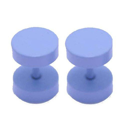 BodyJ4You Fake Plugs Purple Anodized 16G Studs Fake Gauges Cheater Illusion Jewelry - BodyJ4you