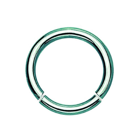 BodyJ4You Green Stainless Steel 14 Gauge Segment Ring - BodyJ4you