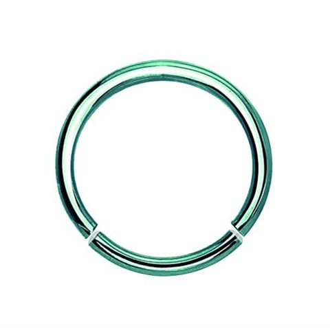 BodyJ4You Green Stainless Steel 16 Gauge Segment Ring - BodyJ4you