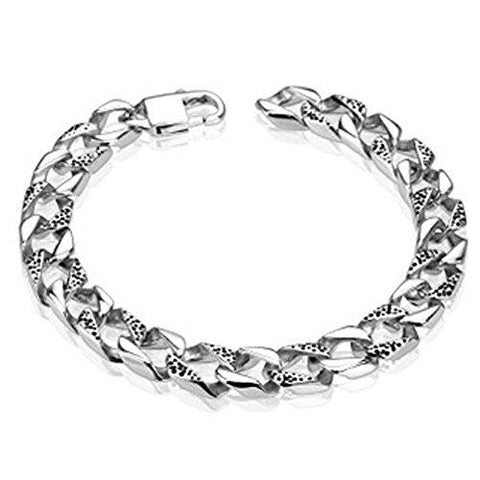 BodyJ4You Men's Square Chain Links Stainless Steel Bracelet - BodyJ4you