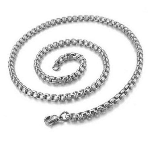 BodyJ4You Mens Stainless Steel Necklace Belcher Chain Link Length 22 inch - BodyJ4you
