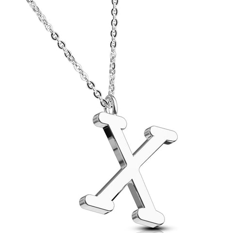 BodyJ4You Necklace Initial Letter Pendant Her Name A-Z Women Girl Personalized Charm Gift Jewelry - BodyJ4you