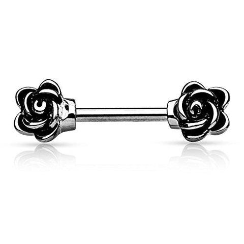 BodyJ4You Nipple Barbell Casted Flower 14 Gauge Barbell Sold individually - BodyJ4you