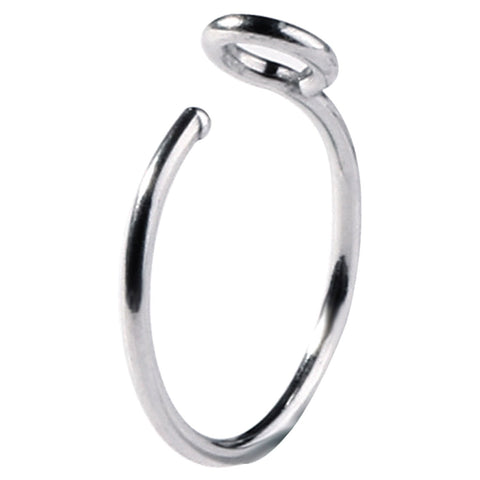 BodyJ4You Nose Hoop Ring Fake Clip On Stainless Steel 20G Septum Cartilage Faux Piercing Jewelry - BodyJ4you