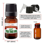 BodyJ4You Organic Tea Tree Oil (5ml) Stretched Ear Lobe Natural Aftercare Wax Gauges Taper Plug - BodyJ4you