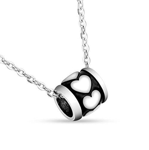 BodyJ4You Pendant Chain Necklace Heart Charm Stainless Steel - BodyJ4you