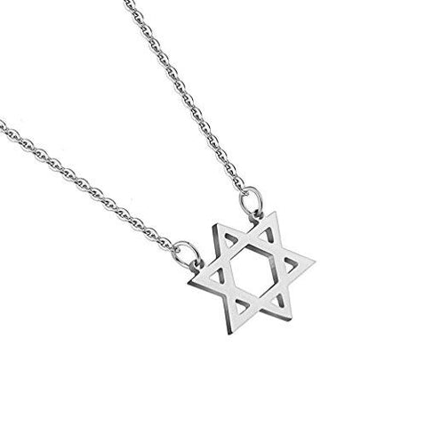 BodyJ4You Pendant Chain Necklace Star of David Stainless Steel - BodyJ4you