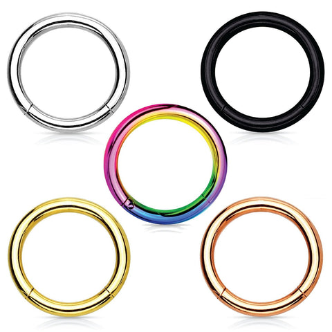 BodyJ4You Piercing Ring Segment Hinged 16G Stainless Steel 10mm Pack 5 Pieces - BodyJ4you