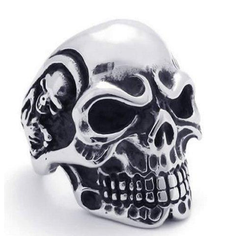 BodyJ4You Ring Vintage Gothic Skull Biker Steel Size 11 Mens Jewelry - BodyJ4you