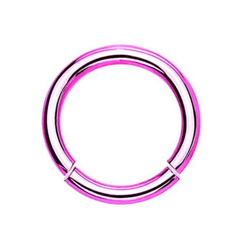 BodyJ4You Segment Ring 14 Gauge Pink Stainless Steel - BodyJ4you