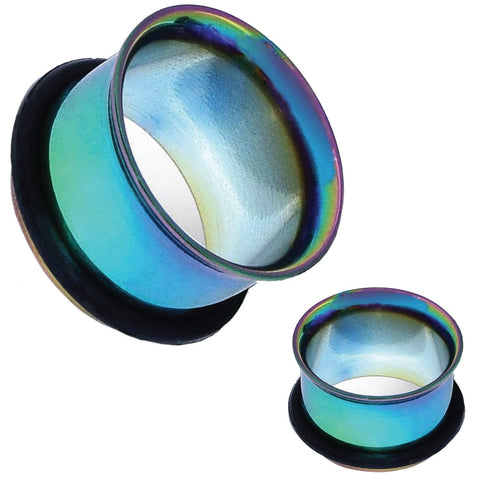 Ear Tunnel Plugs Single Flare Gauges 20MM-14G Rainbow Flesh Stretching Jewelry - BodyJ4you