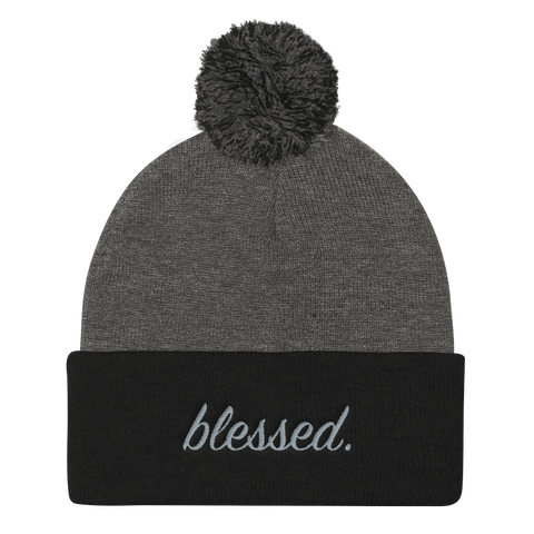 "BLK GRY Blessed ""FUZZ"" Beanie"