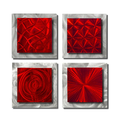 4 Squares Red