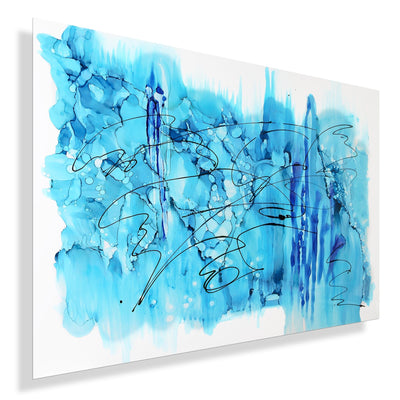 "Large 48"" x 36""! Blue Abstract - JAC 553 by Jon Allen"