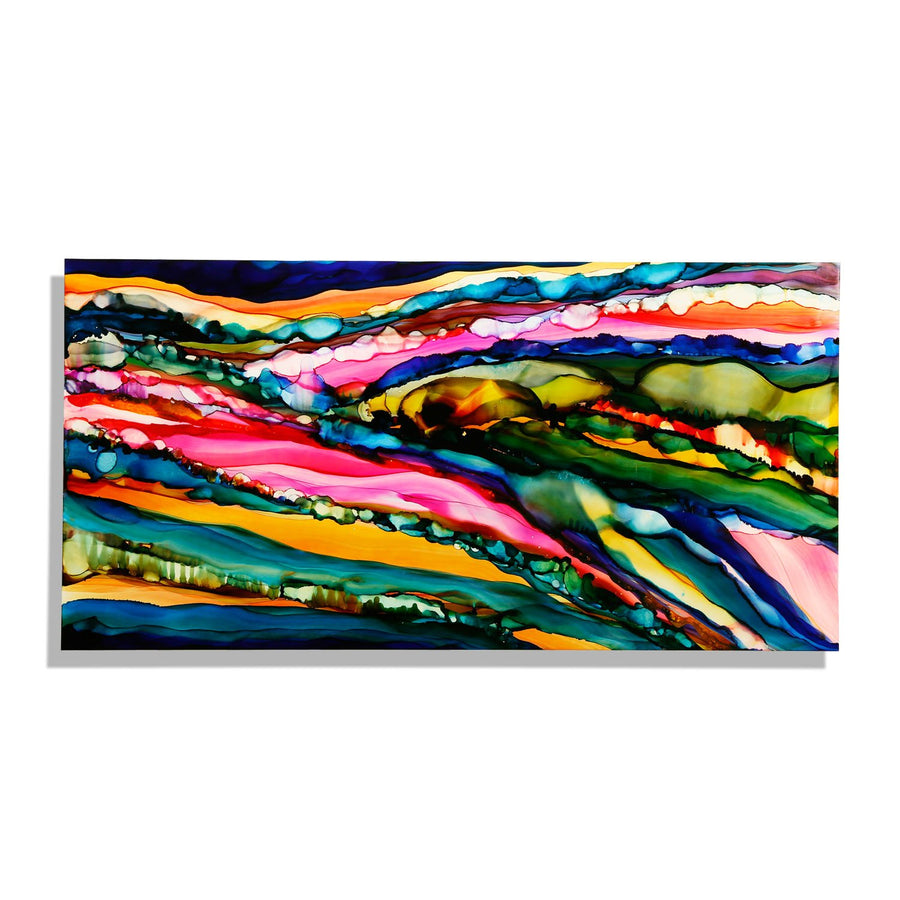 "Only One! 48"" x 24"" Abstract, Colorful, Vibrant Original - ""Kaleidoscopic"" by Jon Allen"