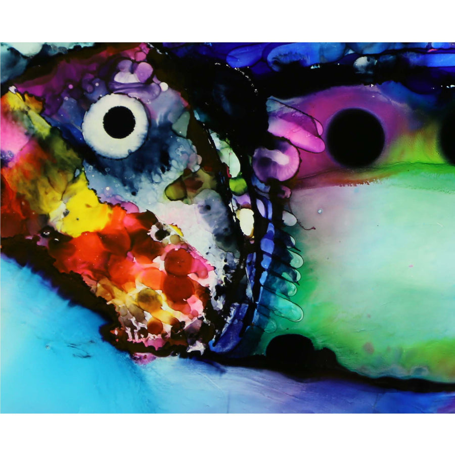 "Only One! Vibrant Original Painting - Fish in Paradise - 48"" x 12"""