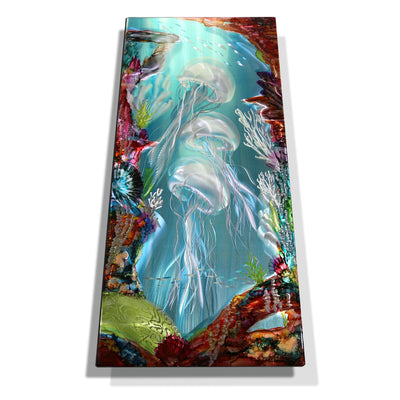 "Dynamic Underwater Tropical Original Painting! Only One! Escape Island 2 18"" x 36"""